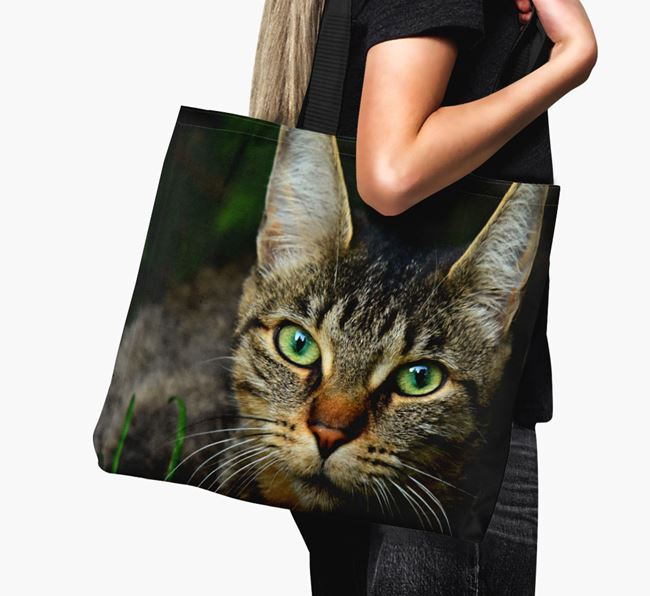 Photo Upload Canvas Bag - Personalised for your Cat
