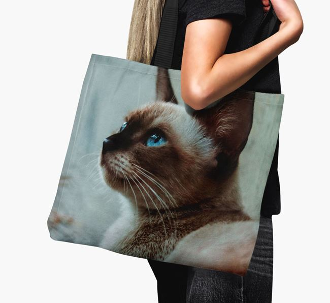 Photo Upload Canvas Bag - Personalised for your Siamese