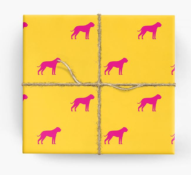 American Bulldog Silhouette Wrapping Paper