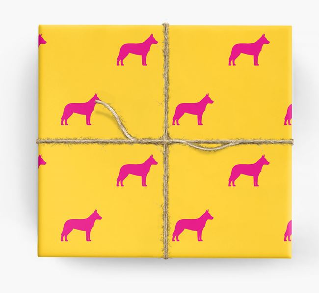 Cattle Dog Silhouette Wrapping Paper