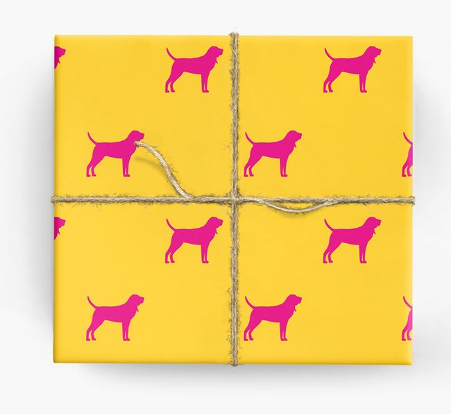 Bloodhound Silhouette Wrapping Paper