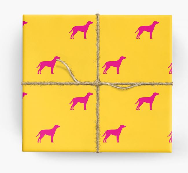 Blue Lacy Silhouette Wrapping Paper