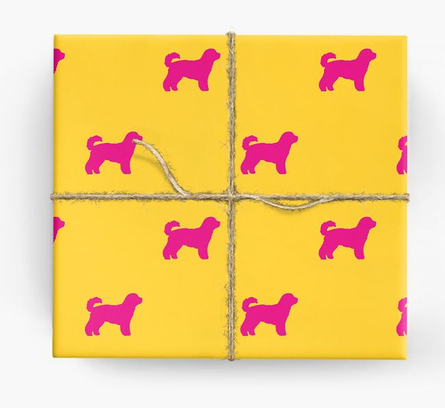 Cavachon Silhouette Wrapping Paper