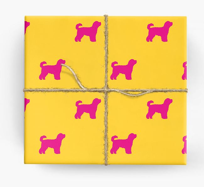 Cavapoochon Silhouette Wrapping Paper