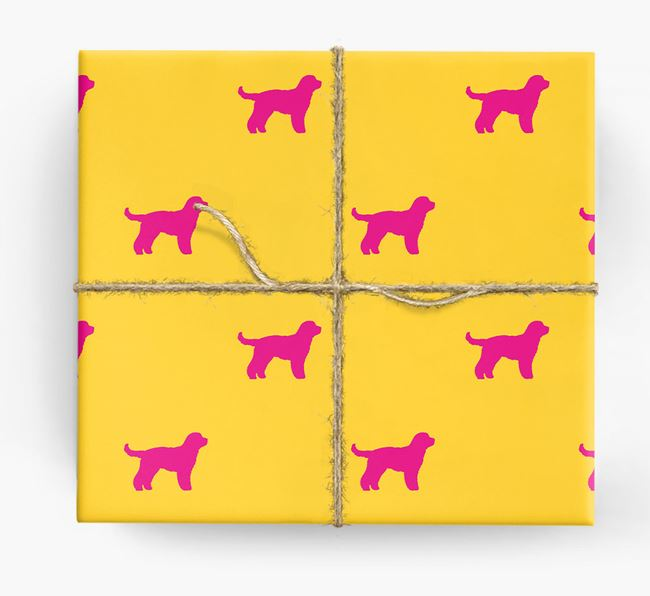 Cockapoo Silhouette Wrapping Paper