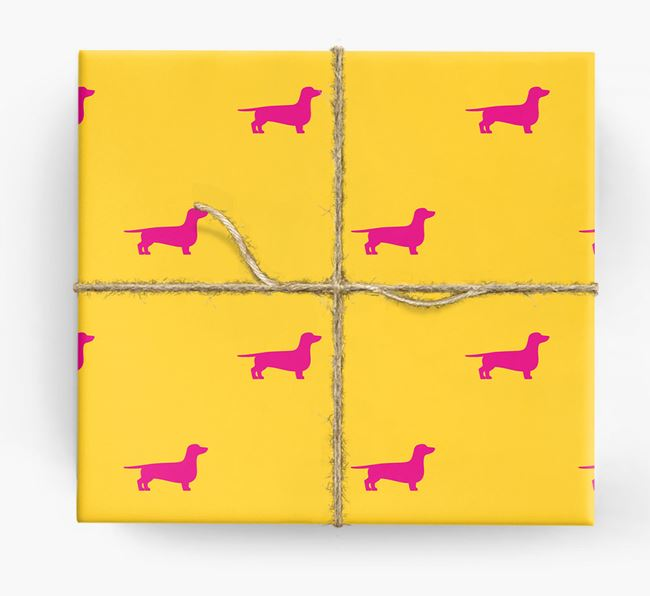 Dachshund Silhouette Wrapping Paper
