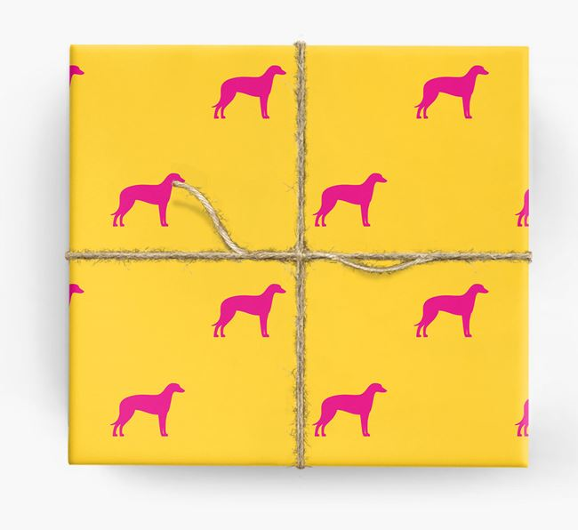 Deerhound Silhouette Wrapping Paper