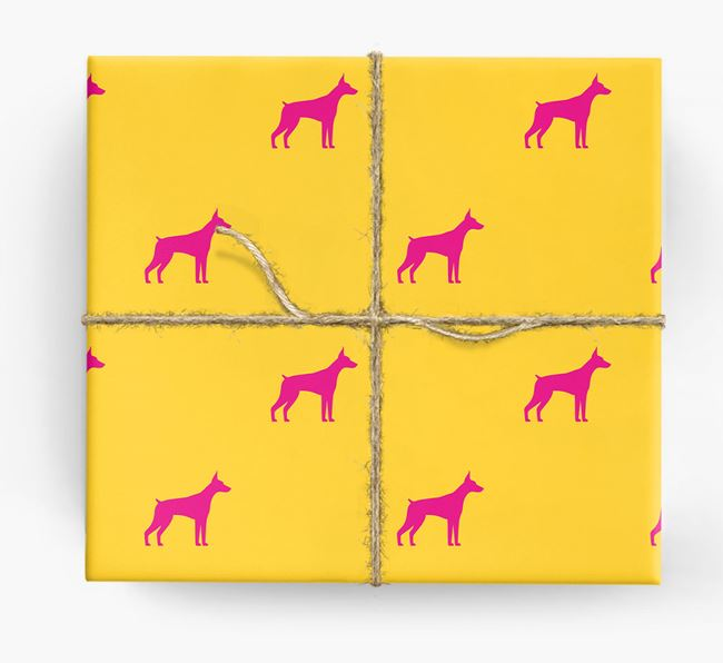 Dobermann Silhouette Wrapping Paper