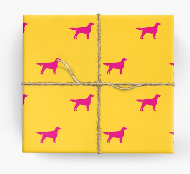 English Setter Silhouette Wrapping Paper