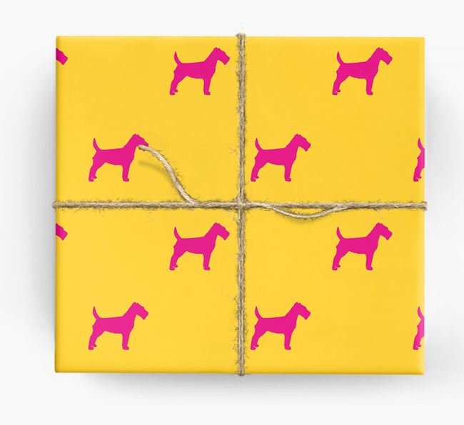 Fox Terrier Silhouette Wrapping Paper
