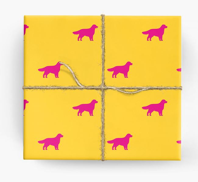 Golden Retriever Silhouette Wrapping Paper