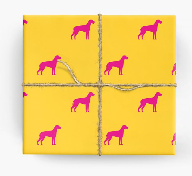 Great Dane Silhouette Wrapping Paper
