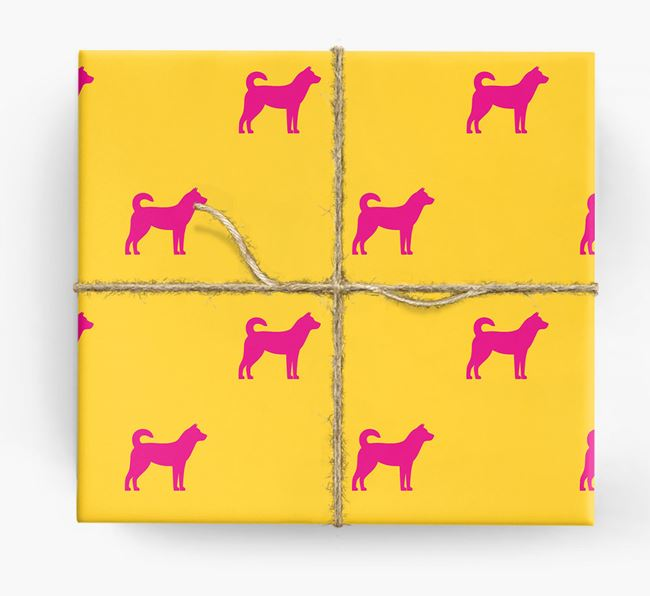 Jindo Silhouette Wrapping Paper