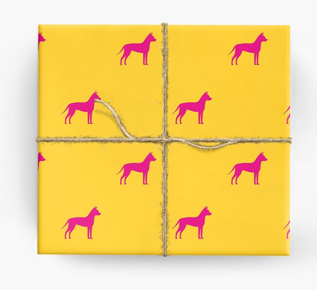 Mexican Hairless Silhouette Wrapping Paper