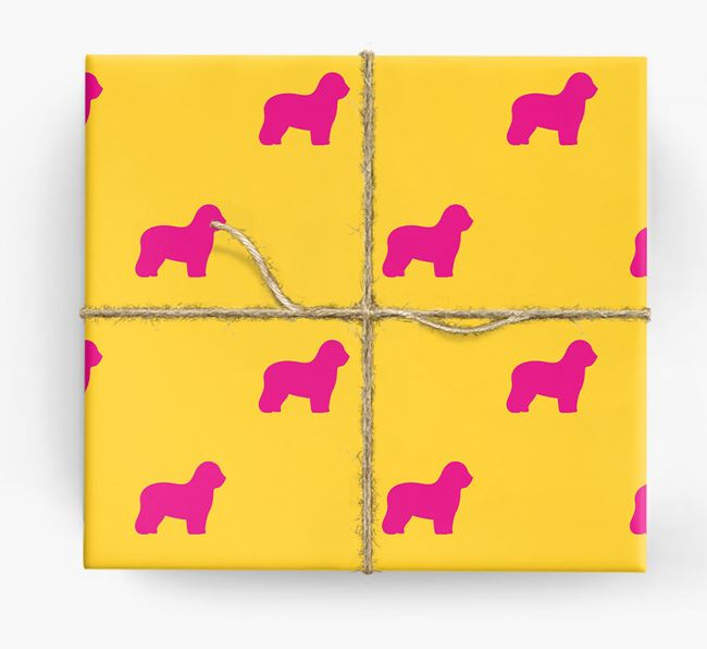 Sheepdog Silhouette Wrapping Paper