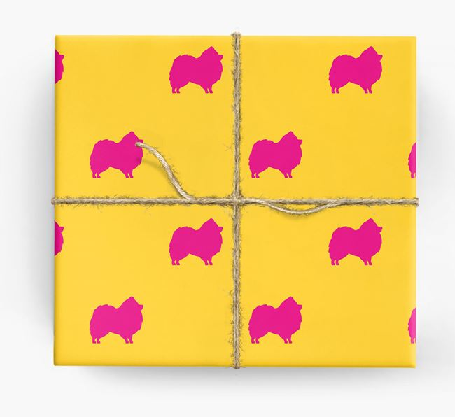Pomeranian Silhouette Wrapping Paper