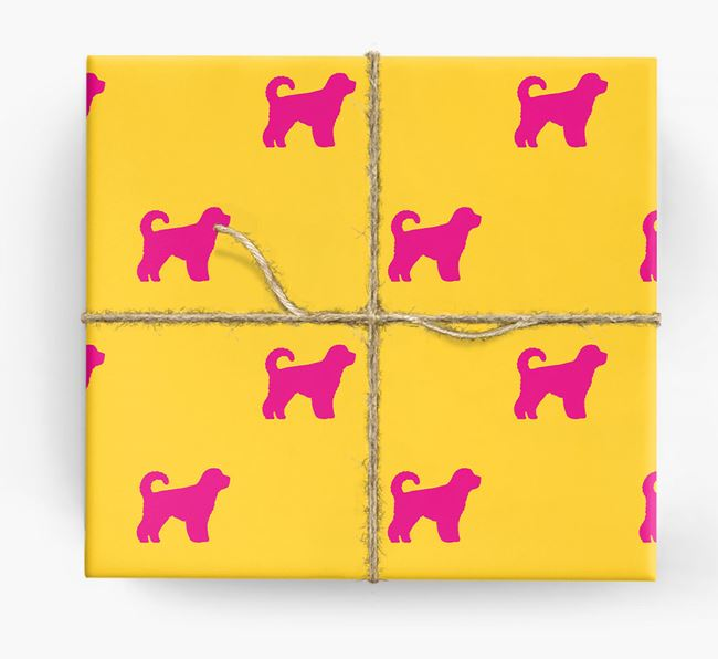 Dog Silhouette Wrapping Paper