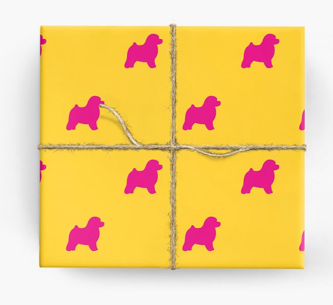 Toy Poodle Silhouette Wrapping Paper