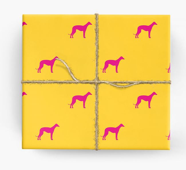 Whippet Silhouette Wrapping Paper