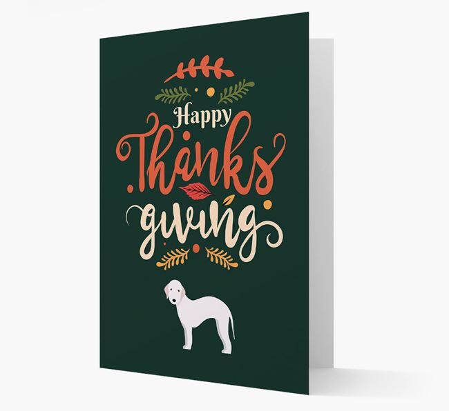 'Happy Thanksgiving!' - Personalized Bedlington Terrier Card