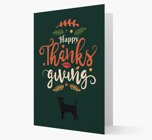 'Happy Thanksgiving!' - Personalized Chihuahua Card