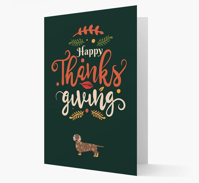 'Happy Thanksgiving!' - Personalized Dachshund Card