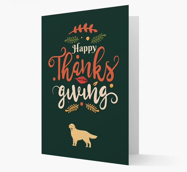 'Happy Thanksgiving!' - Personalized Golden Retriever Card