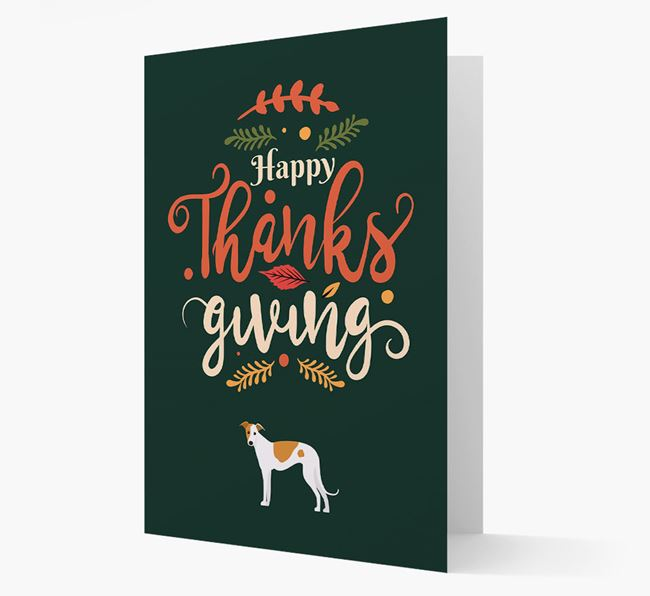 'Happy Thanksgiving!' - Personalized Greyhound Card