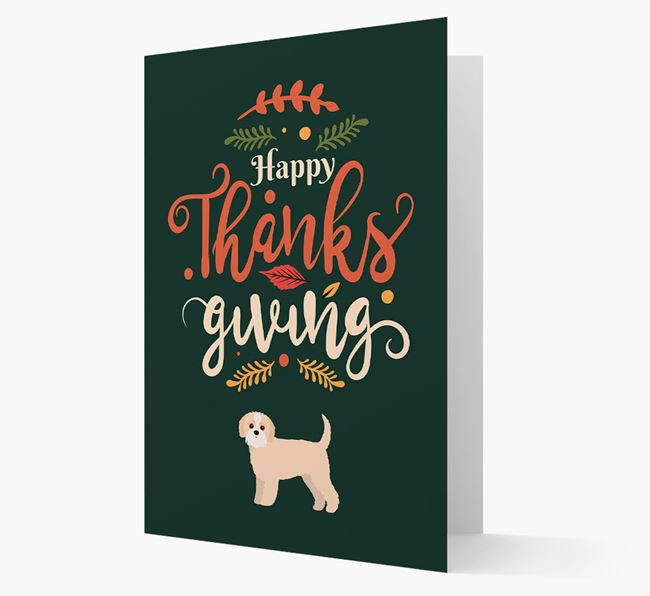 'Happy Thanksgiving!' - Personalized Jack-A-Poo Card