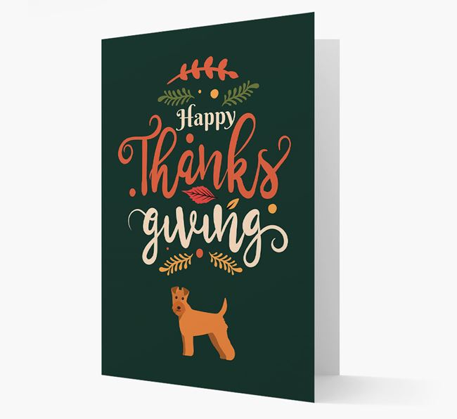 'Happy Thanksgiving!' - Personalized Lakeland Terrier Card