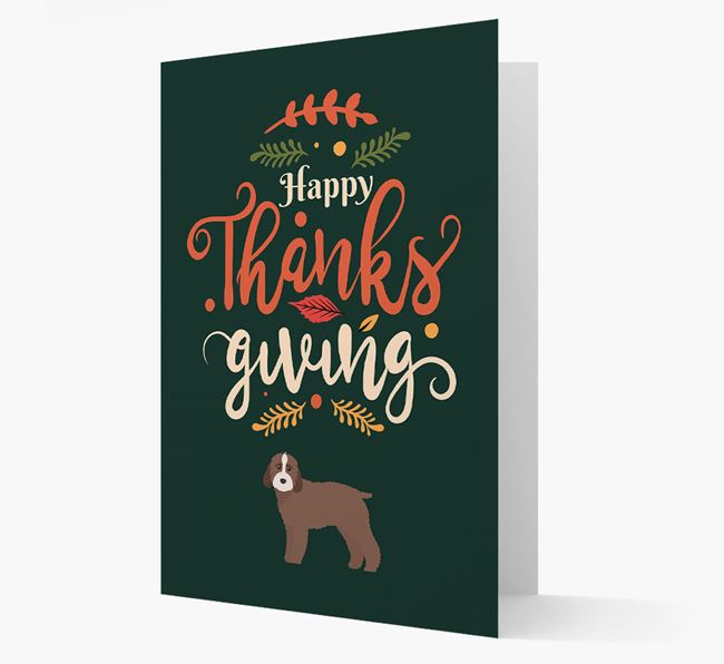 'Happy Thanksgiving!' - Personalized Mixed Breed Card