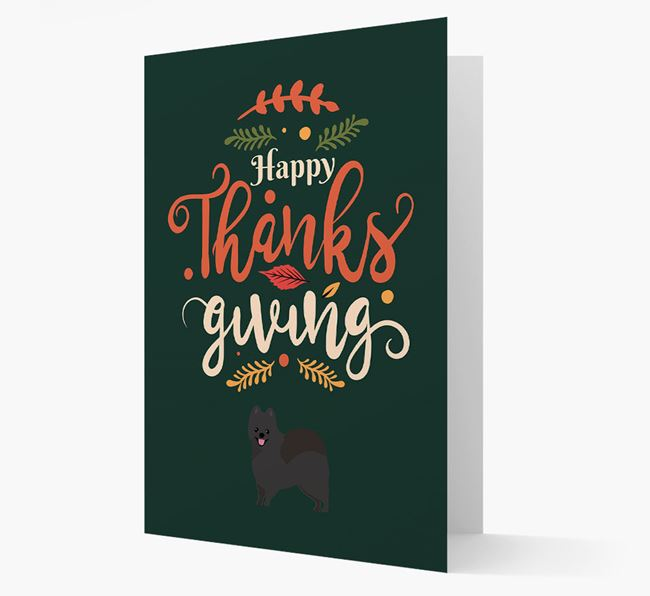 'Happy Thanksgiving!' - Personalized Pomeranian Card