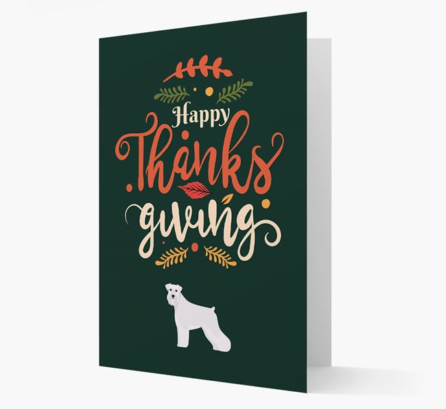 'Happy Thanksgiving!' - Personalized Schnauzer Card