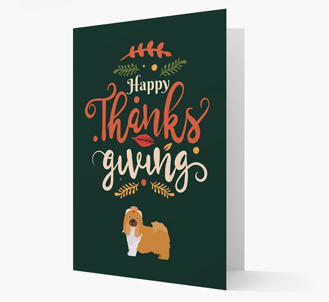 'Happy Thanksgiving!' - Personalized Shih Tzu Card