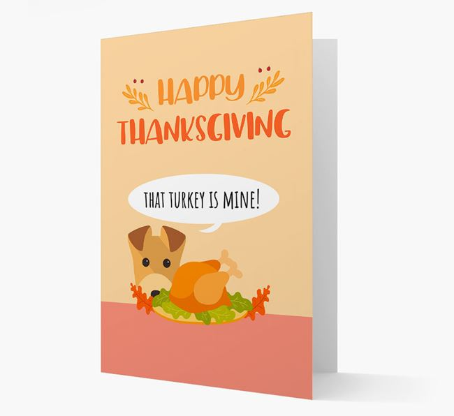 'That Turkey Is Mine!' - Personalized Lakeland Terrier Thanksgiving Card