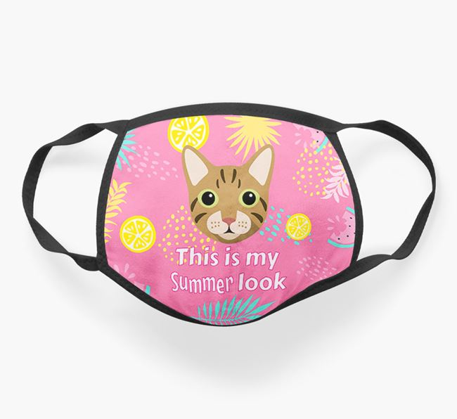 'This Is My Summer Look' - Face Mask with Cat Icon