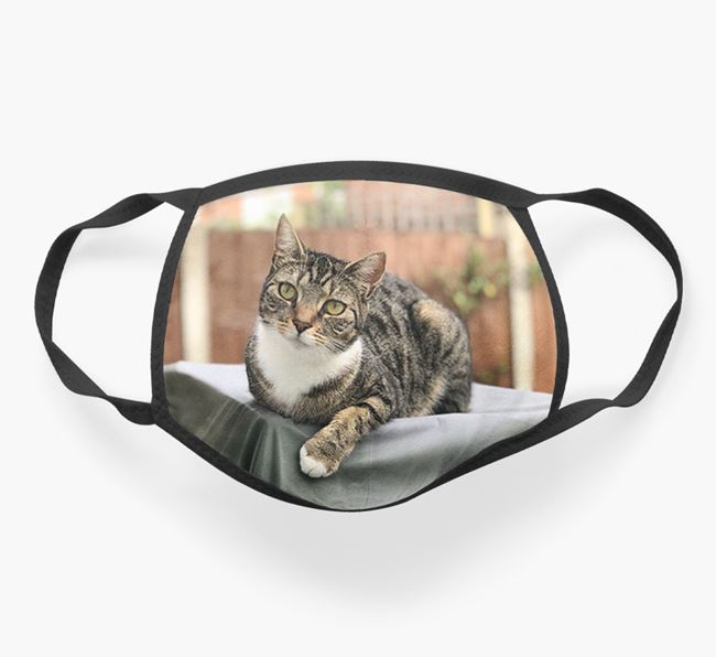 Photo Upload Face Mask - Personalise with your Cat