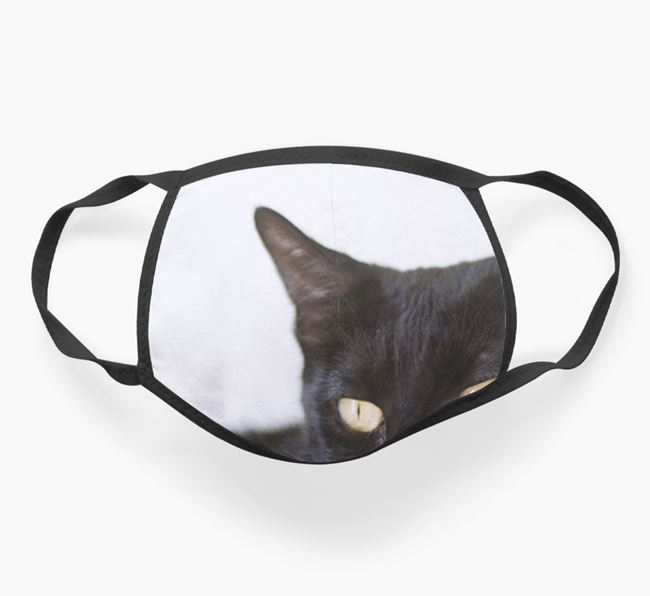 Photo Upload Face Mask - Personalize with your Cat