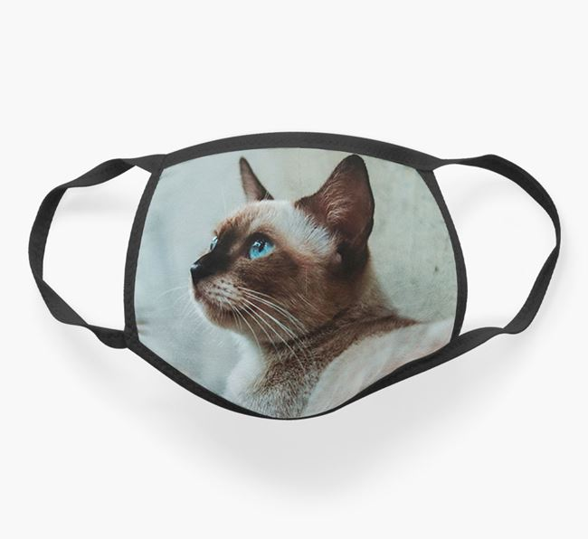 Photo Upload Face Mask - Personalize with your Siamese