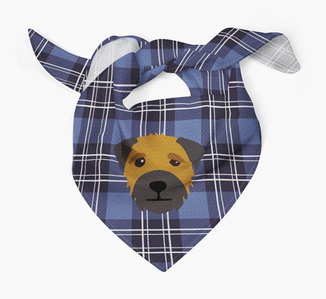 'St Andrew's Day' - Personalised Border Terrier Bandana
