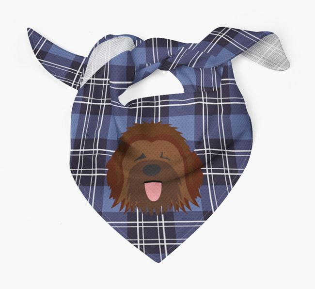 'St Andrew's Day' - Personalised Briard Bandana