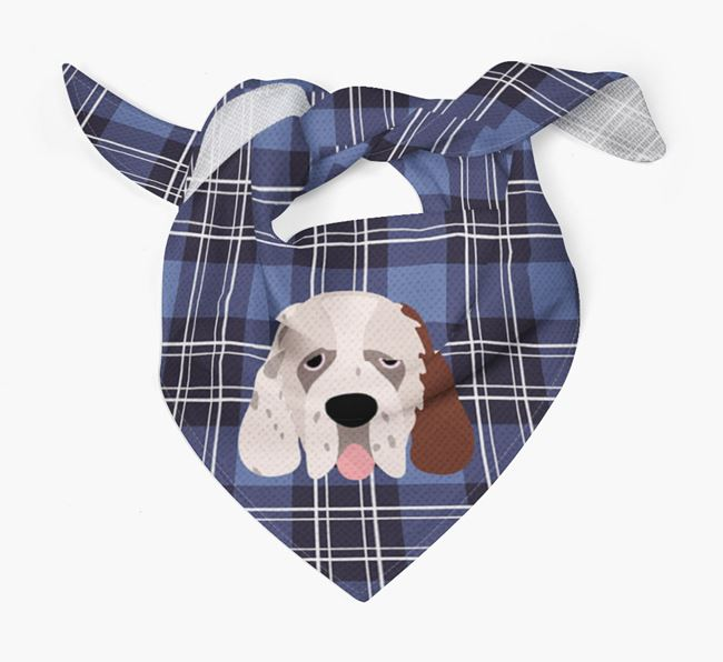 'St Andrew's Day' - Personalised Clumber Spaniel Bandana