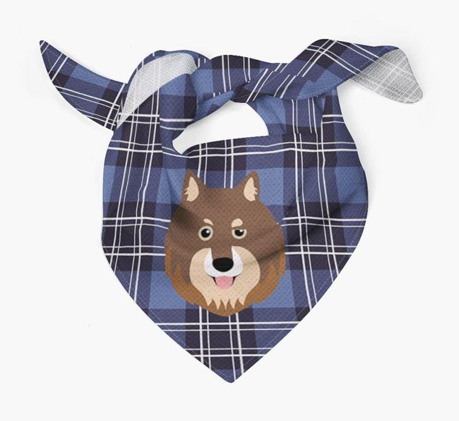 'St Andrew's Day' - Personalised Finnish Lapphund Bandana