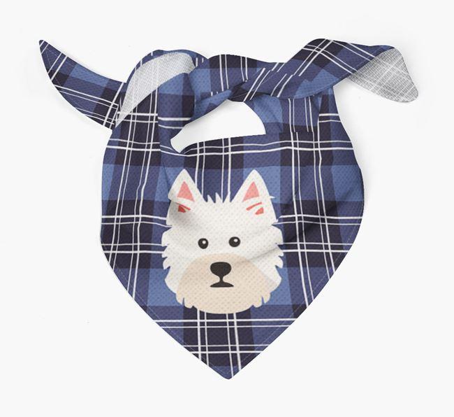 'St Andrew's Day' - Personalised West Highland White Terrier Bandana