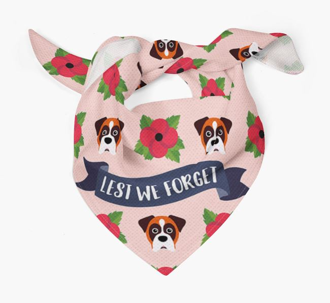 'Lest We Forget' - Personalised Dog Remembrance Day Banana