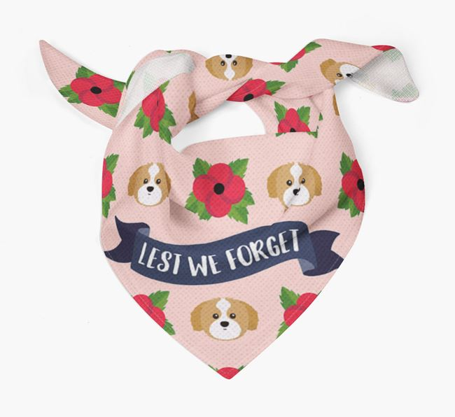 'Lest We Forget' - Personalised Shih Tzu Remembrance Day Banana