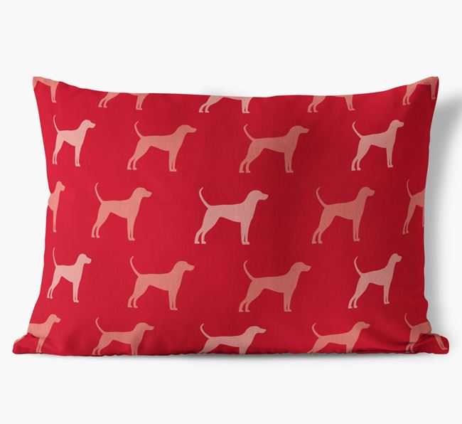 Coloured Silhouette Faux Suede Pillow