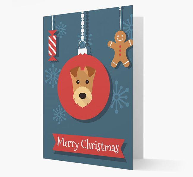 Airedale Ornament Christmas Card