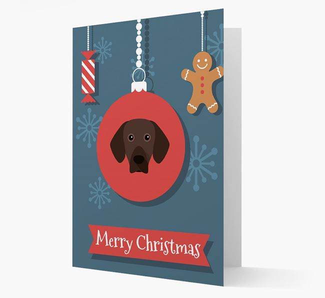 Mountain Hound Ornament Christmas Card