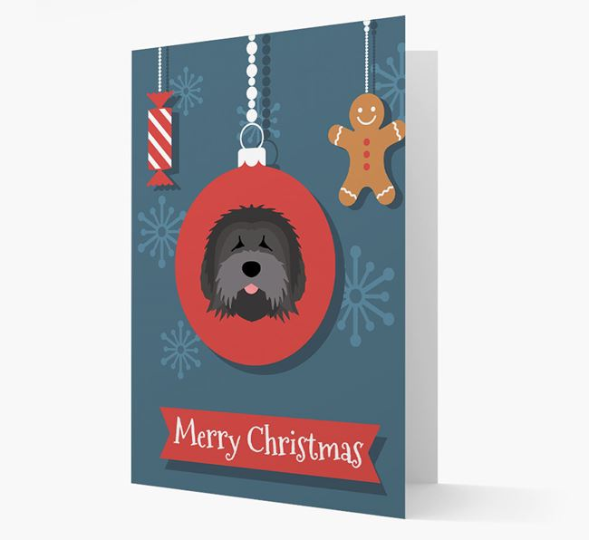 Tibetan Terrier Ornament Christmas Card